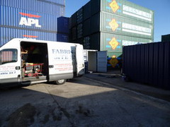 Shipping container welding modifications, welding and repairs